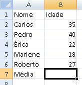 Cálculo de média 1