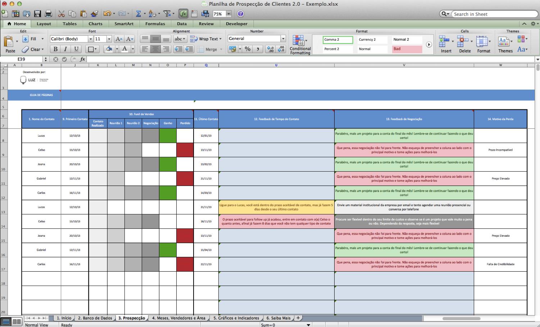 Screenshot - Planilha Prospecção de Clientes 4