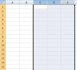 Seleção de colunas com Shift e Mouse
