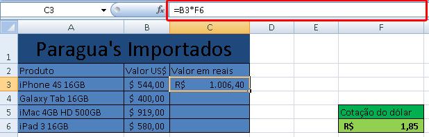 Exemplo De Planilha Cotação Do Dólar