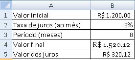 cálculo de juros compostos - final