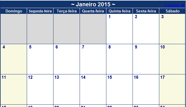 calendario 2015 excel download