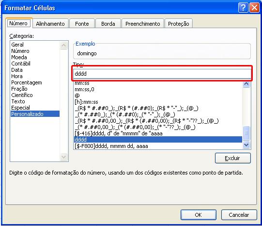 configurando data por extenso