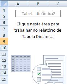 espaço para trabalhar a tabela dinâmica