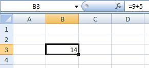 fórmula com sinal de igual
