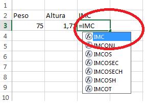 função IMC em uso