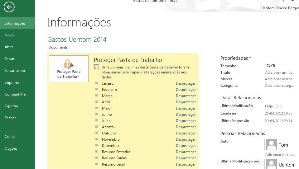 guia Arquivo Excel 2013