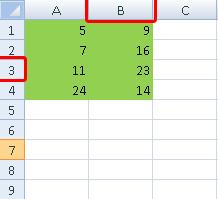 inserir linhas e colunas no Excel