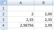 números formatados e não formatados