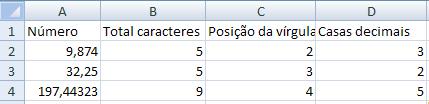 passo a passo para calcular as casas decimais