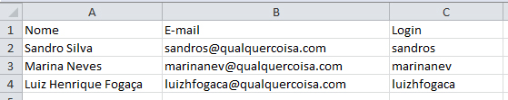 planilha para remover email excel preenchida