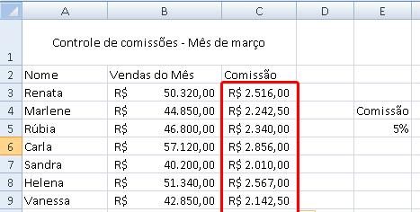 tela de comissão de vendas - parte 5